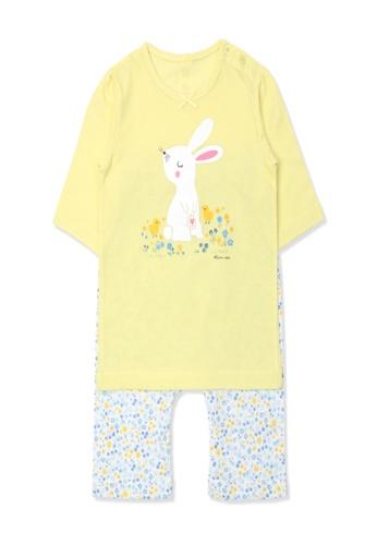 Organic mom yellow Organic Cotton Jacqueline Rabbit Lightweight Middle LengthSleeves Pjs 027EEKA3E5DE0BGS_1