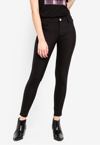 River Island black Molly Skinny Fit Trousers 9929BAA16EFCC3GS_1