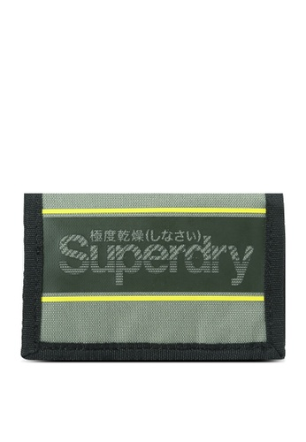 Superdry green Exclusive to Zalora - Velcro Logo Wallet D5BB0ACF3C5004GS_1