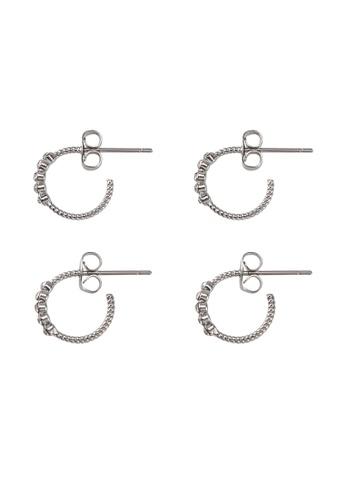 Pieces silver Jakka Hoop Earrings 20231AC226D4ABGS_1