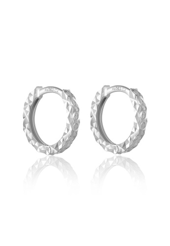 MaBelle silver 14K/585 White Color Gold Gold Hoop Earrings A5AADAC42B65C0GS_1