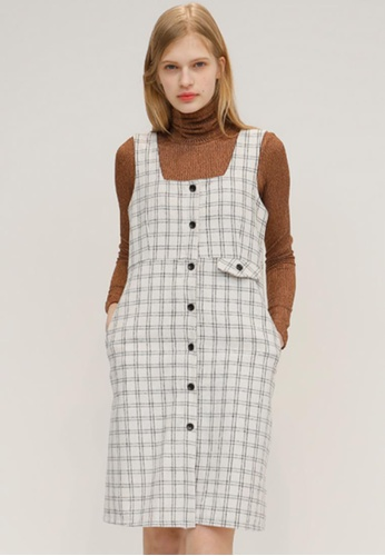 OUTSTANDING ORDINARY black and white Dream Check Dress OU203AA37DBYSG_1