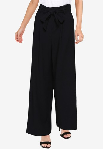 Banana Republic black Hr Wide Tie Waist Paperbag Pants A8711AA0A1D1EFGS_1