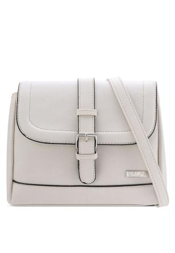 Unisa grey Faux Leather Sling Bag UN821AC72QTVMY_1