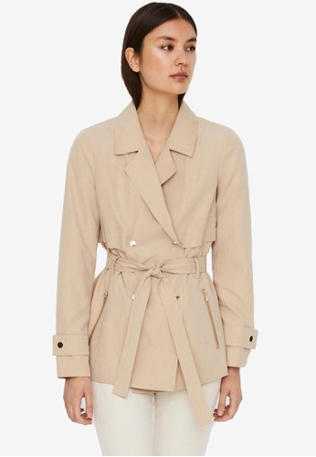 Vero Moda beige Short Wrap Jacket B0E9FAA400BC91GS_1