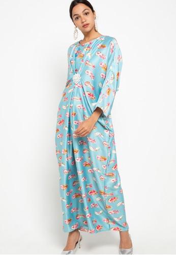 Draisal Batik blue Draisal Batik Lubna Kaftan F7BB7AA4DC8D47GS_1