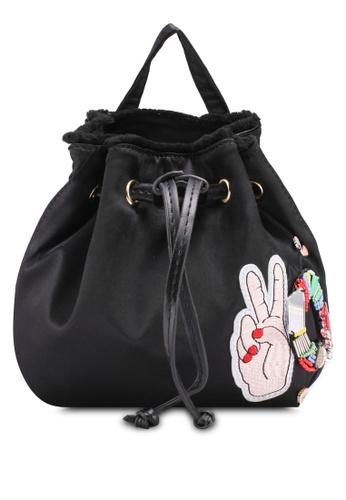 VINCCI black Mini Backpack Bag 4DC2CAC27C69E5GS_1