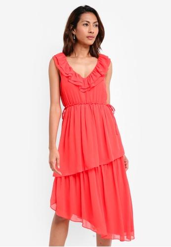 Vero Moda red Linsa Sleeveless Dress 4D9AEAA211BA0AGS_1