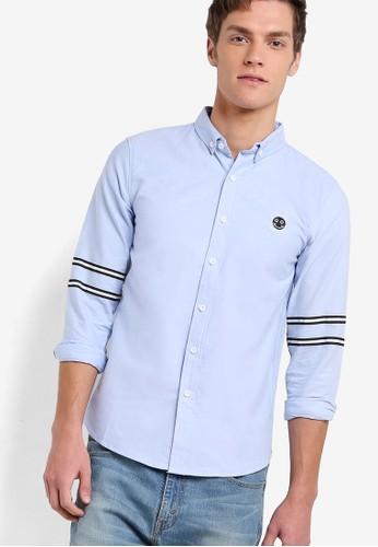 Slizalora時尚購物網評價m Fit Oxford Shirt With Badge, 服飾, 印花襯衫