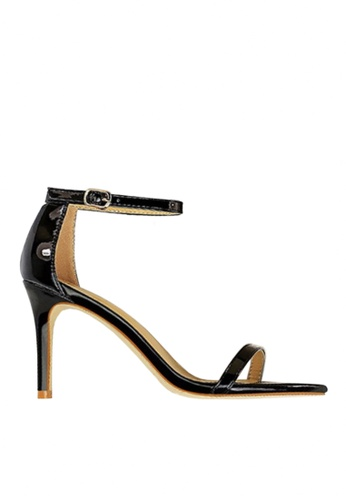Twenty Eight Shoes black Shiny Single Strap Heel Sandals VS126A10 2E707SH43E2186GS_1