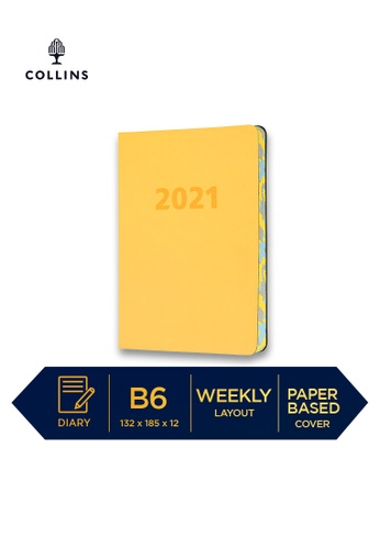 Collins yellow Collins Edge Camo ─ 2021 Calendar Year Diary ─ Yellow ─ B6 Week to View 65BFFHL2ED80F2GS_1