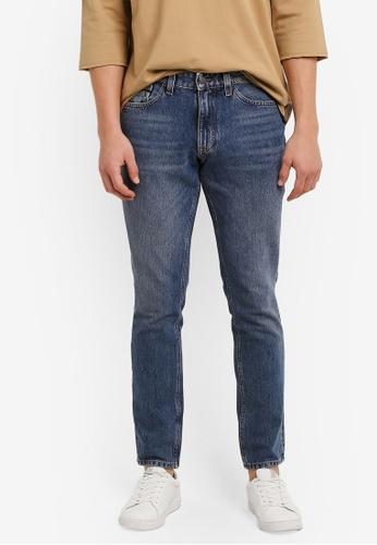 Calvin Klein blue Straight Taper Warp Jeans - Calvin Klein Jeans CA221AA0S02HMY_1