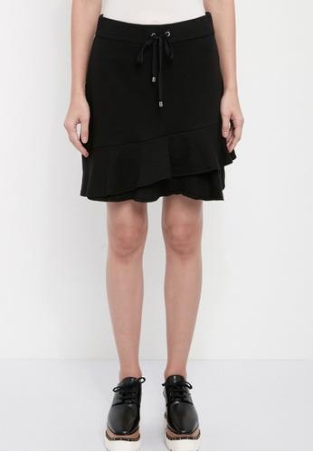 Dkny black DKNY Women French Terry Ruffle Skirt 77232AAF6C91B2GS_1