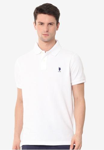 U.S. Polo Assn. white Men's Classic Fit Sport Polo Shirt 8C68CAAB776881GS_1