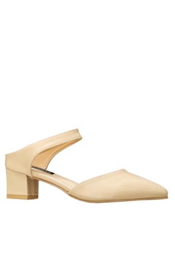 Twenty Eight Shoes beige Simple Mid Heel Shoes VL612 C4715SH2C4C9C6GS_1