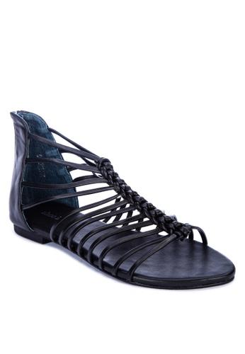 Shoo In black Irvine Strappy Sandals 58BA3SHC84D8BFGS_1