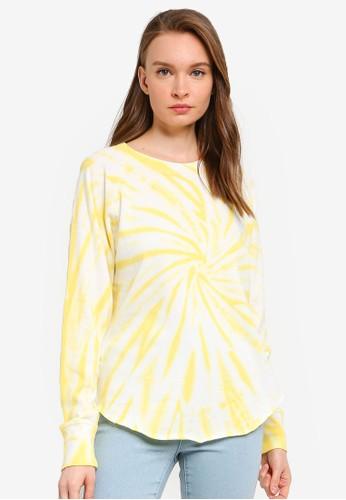 GAP yellow Shirttail Pullover T-shirt 01C63AA35EAA12GS_1