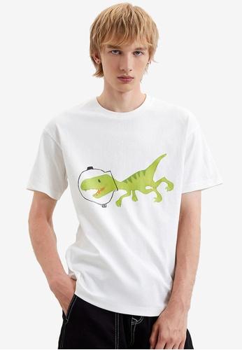 URBAN REVIVO white Casual T-Shirt A7DCEAA12C1DBBGS_1