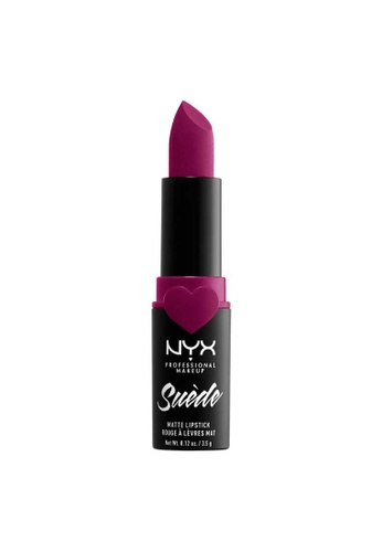 NYX Professional Makeup purple NYX Professional Makeup Suede Matte Lipstick SHADE 11 BD466BE44CC0ABGS_1