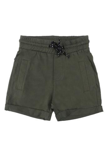 FOX Kids & Baby green Casual Knit Shorts D913EKA0A4A217GS_1