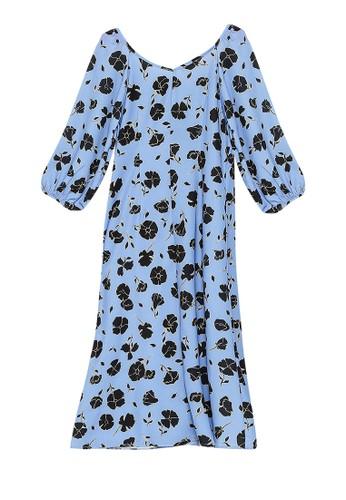 OVS blue Woven Dress 7007AAAA543E50GS_1