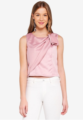 Angeleye pink Front Pleated Top 381E2AAC764C3AGS_1