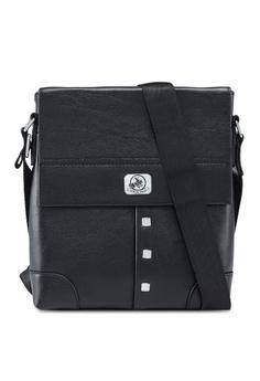 404c5a0749f0 Swiss Polo black Faux Leather Messenger Bag 5D301ACF67567CGS 1
