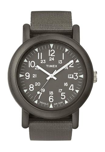 TIMEX grey Timex Camper Gray Nylon Slip-thru Strap Watch TI857AC96CNNSG_1