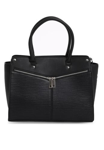 PIMKIE black Faux Leather Tote Bag 156C1AC899A5E2GS_1