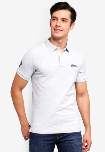 Superdry grey Classic Short Sleeve Pique Polo Shirt 92EC8AA7FD8B70GS_1