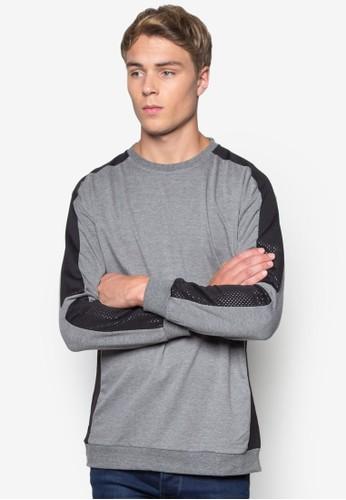 撞色網眼拼接長袖衫、 服飾、 外套24:01撞色網眼拼接長袖衫最新折價