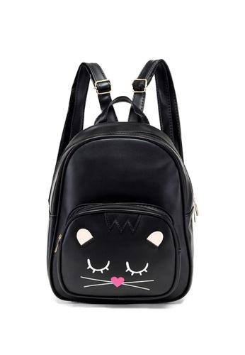 TCWK black TCWK Korea Fashion Black Backpack 412A2ACF3E1796GS_1