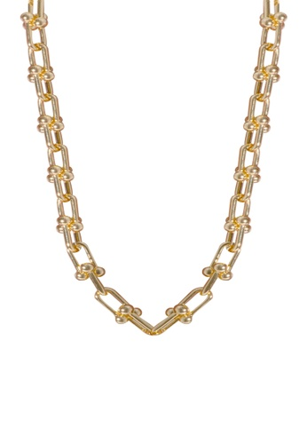 SKEDA gold Refined Chain Series Necklace A6227ACCFC5315GS_1