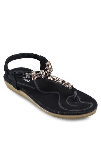 閃飾夾腳繞踝涼鞋, 女鞋zalora是哪裡的牌子, 鞋