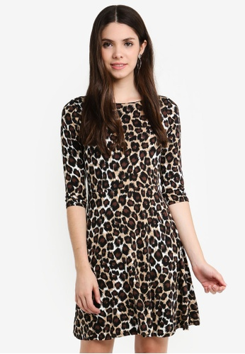 2cf2c218d932 Buy Dorothy Perkins Petite Leopard Print Dress | ZALORA HK