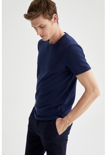 DeFacto navy Man Knitted T-Shirt E64ACAA2EE9AFEGS_1