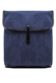 Distressed Canvas Flap Backpack