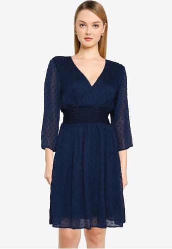 Vero Moda navy Evi Mini Dress 09923AAF14755DGS_1