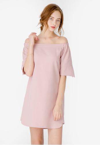 Kodz pink Off Shoulder Casual Dress ED348AAB323BD2GS_1
