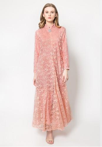 Kasa Heritage pink Delilah Dress - Blush 740C2AAB647ED2GS_1