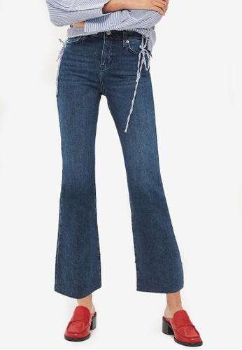 TOPSHOP blue Moto Indigo Cropped Kick Flare Dree Jeans 9FF8FAA2D7A96AGS_1