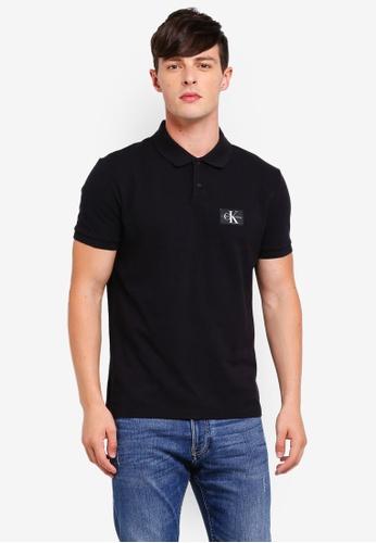 Calvin Klein 黑色 Monogram Regular Polo Shirt - Calvin Klein Jeans 6F58EAAF3786A5GS_1