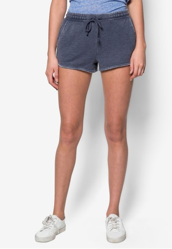水洗短跑運動短褲, topshop官網服飾, 休閒短褲