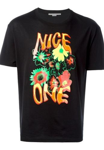 STELLA MCCARTNEY black Stella Mccartney Tropical Print T-Shirt in Black 3CDEAAAAD4F359GS_1