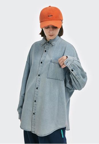 Twenty Eight Shoes blue Vintage Washed Denim Shirt 2103W20 75979AA08ABB22GS_1