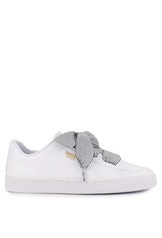 a3e8e62186f8 Puma white and multi Basket Heart Women s Shoes 4EF3FSHD5ACD3DGS 1