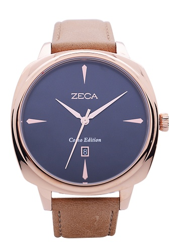 ZECA pink and silver and gold Zeca Watches Couple Men Fashion - 336M Brown Rosegold ZE260AC61SLUSG_1