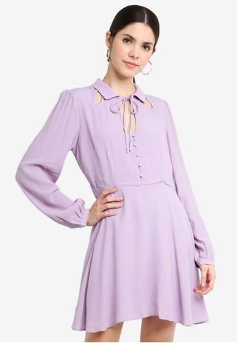 Glamorous purple Keyhole Detail Dress E2230AA8599813GS_1