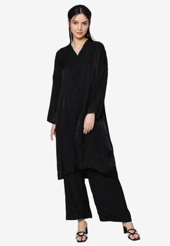 ZALIA BASICS black Lounge Top with Pants Set E2533AA8779DF3GS_1