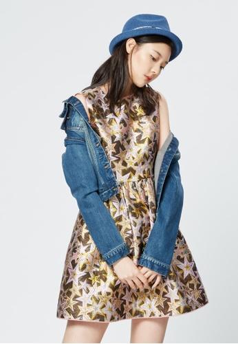 iROO multi Printed Texture Dress D3C54AA601DBB5GS_1